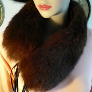 Brown Fox collar/headband